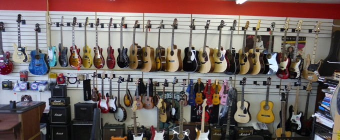 Come see our collection of guitars & drums