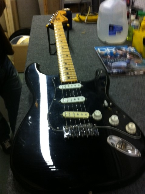 Black Strat finished new frets and pick ups